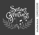 script font type season's... | Shutterstock .eps vector #1240132330