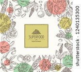 background with super food ... | Shutterstock .eps vector #1240135300