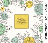 background with wormwood ... | Shutterstock .eps vector #1240135339