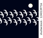 flying birds  moonlight  night... | Shutterstock .eps vector #1240139716