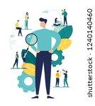 vector business graph  open... | Shutterstock .eps vector #1240140460