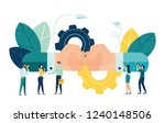 business concept vector... | Shutterstock .eps vector #1240148506