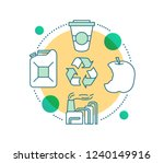 waste recycling concept icon.... | Shutterstock .eps vector #1240149916