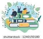 vector cartoon illustration of... | Shutterstock .eps vector #1240150180