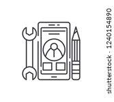 mobile development line icon...