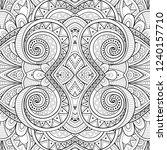 monochrome seamless tile... | Shutterstock . vector #1240157710