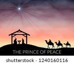 christmas nativity scene of... | Shutterstock .eps vector #1240160116
