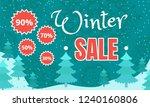 final winter sale banner. flat... | Shutterstock .eps vector #1240160806