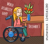 world disability day woman... | Shutterstock .eps vector #1240161280