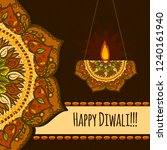 happy diwali festival concept...   Shutterstock .eps vector #1240161940