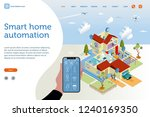 smart home isometric vector... | Shutterstock .eps vector #1240169350