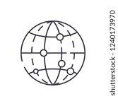 global data encryption line... | Shutterstock .eps vector #1240173970