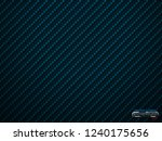 vector blue carbon fiber volume ... | Shutterstock .eps vector #1240175656