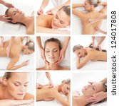 spa collage  different types of ... | Shutterstock . vector #124017808
