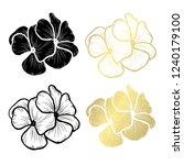 decorative geranium flowers ... | Shutterstock .eps vector #1240179100