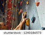 macro shot of climbers hands... | Shutterstock . vector #1240186573
