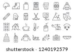 holiday ski resort icon set.... | Shutterstock .eps vector #1240192579