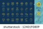 vector artificial intelligence... | Shutterstock .eps vector #1240193809