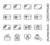 vector illustration set gift...   Shutterstock .eps vector #1240194160