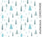 scandinavian winter landscape...   Shutterstock .eps vector #1240194430