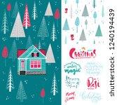 set. winter landscape with...   Shutterstock .eps vector #1240194439