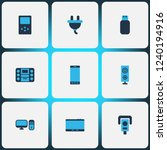 hardware icons colored set with ... | Shutterstock .eps vector #1240194916