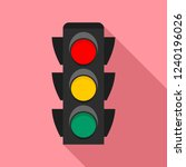 city traffic lights icon. flat... | Shutterstock .eps vector #1240196026
