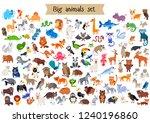 vector flat style big set of... | Shutterstock .eps vector #1240196860