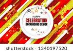 anniversary celebration... | Shutterstock .eps vector #1240197520