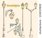 vector retro streetlights....