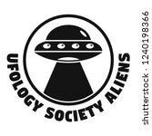 ufology society aliens logo.... | Shutterstock .eps vector #1240198366