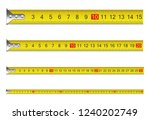 measure tape set. vector... | Shutterstock .eps vector #1240202749