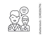 doctor's help to the patient... | Shutterstock .eps vector #1240206796