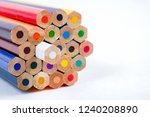 color pencils close up on white ... | Shutterstock . vector #1240208890