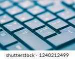 macro keyboard keys  an angle... | Shutterstock . vector #1240212499