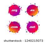 top level internet domain icons.... | Shutterstock .eps vector #1240215073