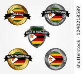 design label of made in zimbabwe | Shutterstock .eps vector #1240218589