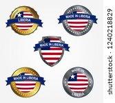 made in liberia | Shutterstock .eps vector #1240218829