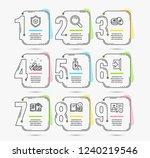 timeline infographic. set of...   Shutterstock .eps vector #1240219546