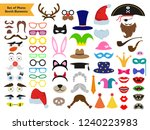 set of different piece photo... | Shutterstock .eps vector #1240223983