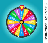 colorful wheel of luck or... | Shutterstock .eps vector #1240226413