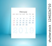 2019 february calendar  vector... | Shutterstock .eps vector #1240226710