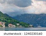 gloomy view of kotor bay under...   Shutterstock . vector #1240230160