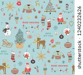 christmas background  seamless... | Shutterstock . vector #1240232626