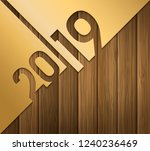 2019 happy new year greeting... | Shutterstock .eps vector #1240236469