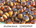 many chestnuts useful as a food ... | Shutterstock . vector #124024969