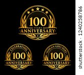 100 years anniversary set.... | Shutterstock .eps vector #1240258786