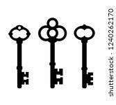 old ornate key icon set... | Shutterstock .eps vector #1240262170