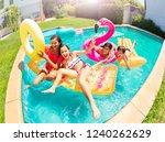 happy teenagers having fun in... | Shutterstock . vector #1240262629