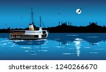 silhouette of istanbul in the... | Shutterstock .eps vector #1240266670